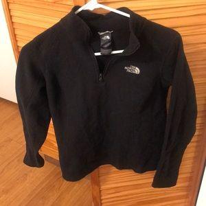 New north face black half zip fleece S